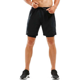 "2XU Compressie 7"" 2-in-1 Shorts Heren, black/black"